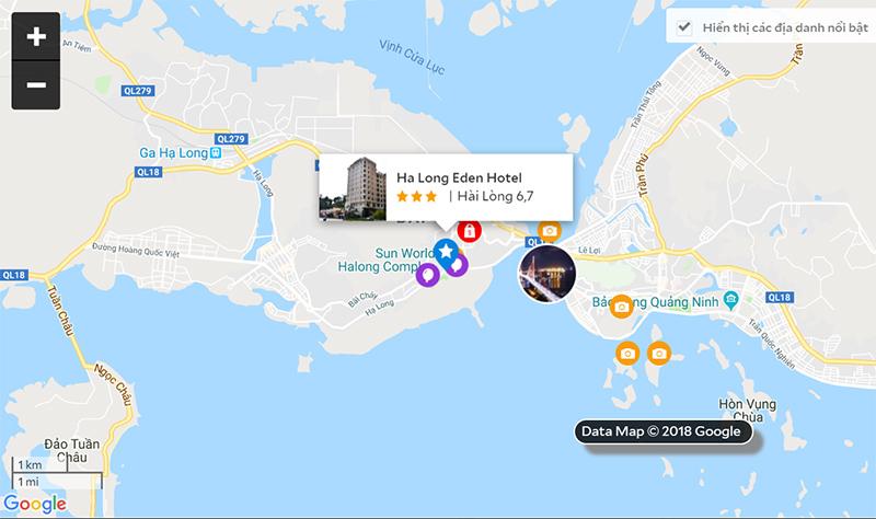 bản đồ khách sạn Eden Hạ Long