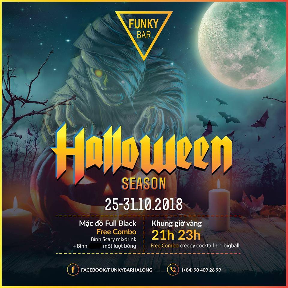 Lễ hội Happy Halloween Season tại Funky Bar Hạ Long