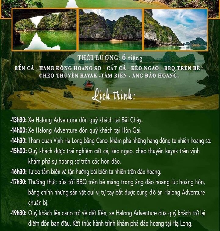Tour du lịch đảo hoang trên vịnh Hạ Long