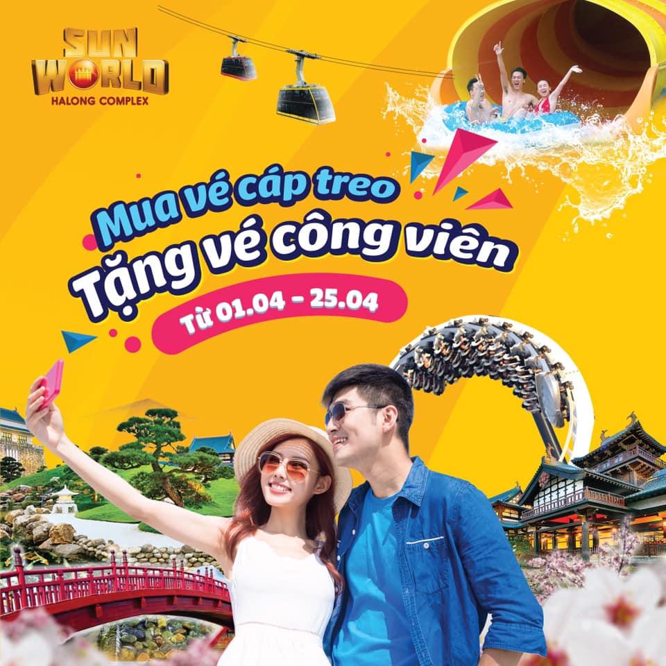Mua vé cáp tren tặng vé công viên SunWorld Hạ Long