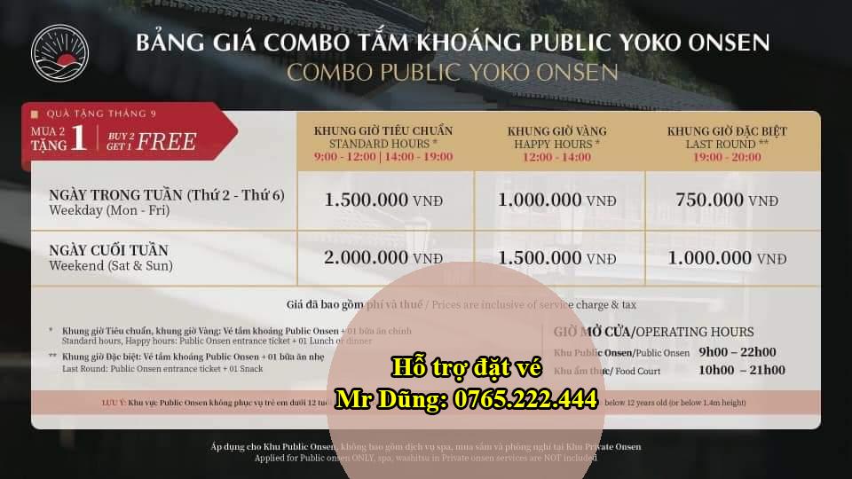 Đặt vé Onsen Quang Hanh